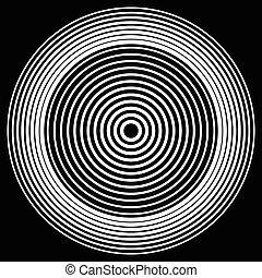 anillos, Extracto, blanco, patrón, elemento, círculos,...