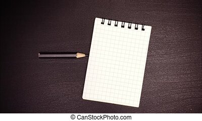 Stop motion animation pencil notepad - Stop motion animation...
