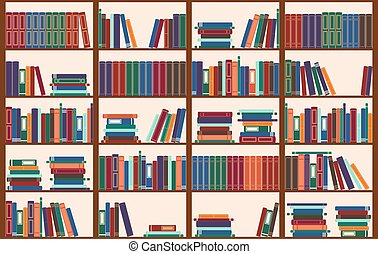 Bookshelf, vector illustration