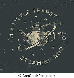 Vintage science poster and background with Russell's teapot...