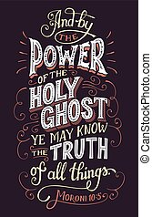 The power of the holy ghost bible quote