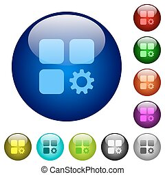 Component settings color glass buttons - Component settings...