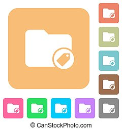 Tagging directory rounded square flat icons - Tagging...