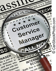 Job Opening Customer Service Manager. 3D. - Customer Service...