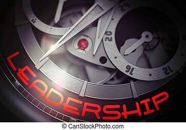 Leadership on the Fashion Watch Mechanism. 3D. - Old...