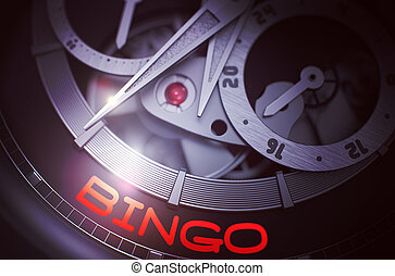 Bingo on Elegant Pocket Watch Mechanism. 3D. - Fashion...
