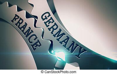 Germany France - Inscription on Mechanism of Metal Cog...