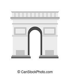 Triumphal Arch icon, flat style
