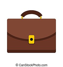 Diplomat icon, flat style - Diplomat icon isolated on white...