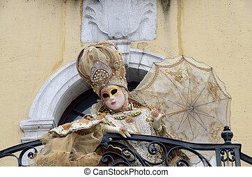 Venitian carnival in Annecy, France - Venitian carnival...