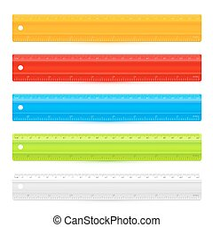 Rulers - Set of five colorful rulers