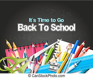 Back to school background - It's Time to Go Back to School....