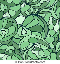 Seamless art pattern green color