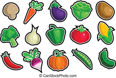 Vegetable Icons - A set of vegetable icons.