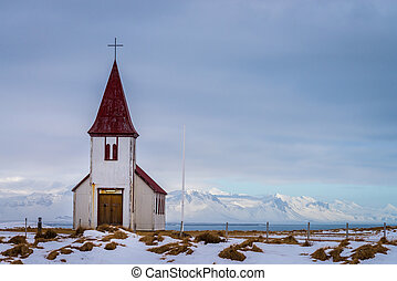 Old church on Snaefellsnes peninsula, Iceland