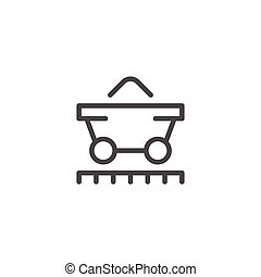 Mine trolley line icon isolated on white. Vector...