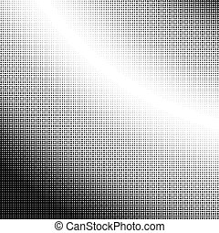 Halftone gradation / gradient pattern, abstract geometric...