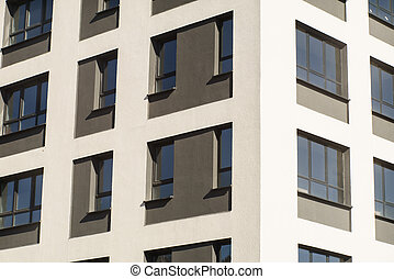 Apartment Complex with Windows