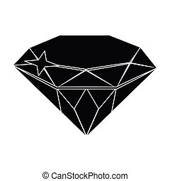 Gem diamond. A valuable prize in the casino.Kasino single icon in black style vector symbol stock illustration.