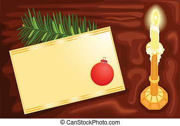 Writing a Christmas card