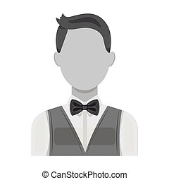 The man in a suit. The croupier, the person who follows the...