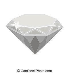 Gem diamond. A valuable prize in the casino.Kasino single icon in monochrome style vector symbol stock illustration.