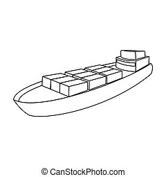 A ship for the transport of heavy goods over long distances...