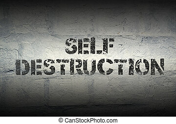 self destruction GR - self destruction stencil print on the...