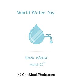 Water drop and water tap icon vector logo design...