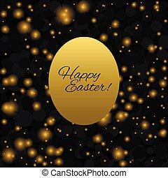 Easter egg illustration - Happy Easter. Golden egg isolated...