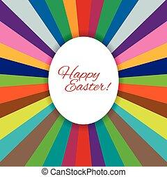 Easter egg illustration - Happy Easter. White egg on the...