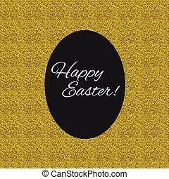 Easter egg illustration - Happy Easter. Black egg isolated...