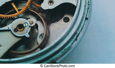 Vintage Watch Gears Movement Macro - Watch mechanism macro...