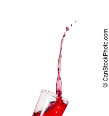 color splash - colorful splash of water on a white...