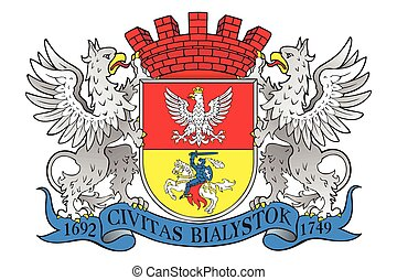 Coat of arms of Bialystok, Poland. Vector Format.