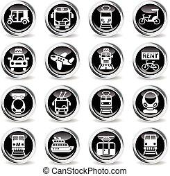 public transport icon set - public transport icons on...