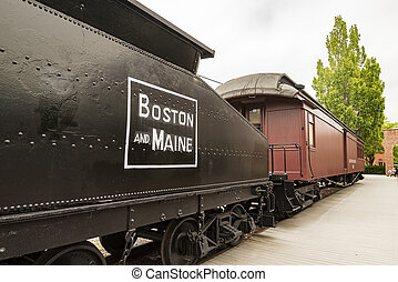 Train station from the past - Train station with locomotive...