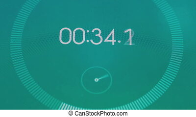 Digital stopwatch macro. Quick count the seconds, close up...