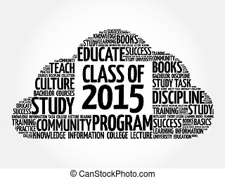 CLASS OF 2015 word cloud collage, education concept...