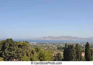 Aegean sea from Kos island (Greece) with Bodrum (Turkey)...