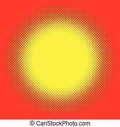 Popart, halftone pattern, background. Yellow and red,...