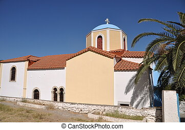 Greek church - typical greek church in Zia village Kos...