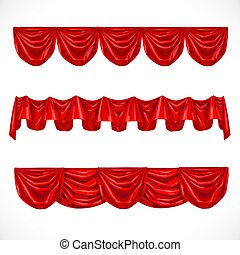 Red pelmet isolated on a white background