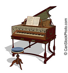 Harpsichord - A Flemish harpsichord in the style of the...