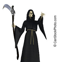 Grim Reaper Pointing - The Grim Reaper pointing - 3D render.