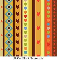 Bright Colorful seamless shapes pattern. Abstract vector...