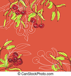 Background with cherry
