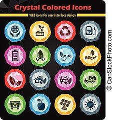 alternative energy icon set - alternative energy web icons...