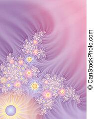 Gossamer Flowers Background - Several layers of fractals...