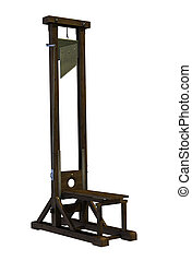 Guillotine - 3D render of a guillotine, the official method...
